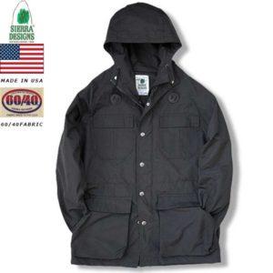 シェラデザインズ SIERRA DESIGNS 7910 MOUNTAIN PARKA BLACK-BLACK 60/40 64クロス リブラセレクトストア libra select store 浜松