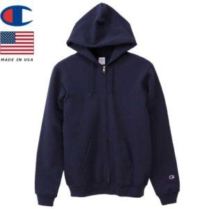 Champion チャンピオン ジップフーデッドスウェットシャツ 9oz MADE IN USA C5-Q101 ネイビー リブラセレクトストア libra select store libra-ss LBR 浜松