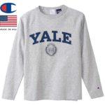 チャンピオン T1011 ティーテンイレブン ラグランロングスリーブTシャツ MADE IN USA C5-S403 オックスフォードグレー リブラセレクトストア libra select store libra-ss LBR 浜松
