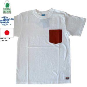 グッドオン×シェラデザインズ Tシャツ 64クロス Good On x SIERRA DESIGNS 60/40 POCKET TEE 1509White/Rust リブラセレクトストア LBRA SELECT STORE 浜松市