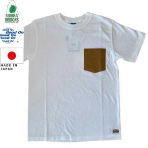 グッドオン×シェラデザインズ Tシャツ 64クロス Good On x SIERRA DESIGNS 60/40 POCKET TEE 1509White/Tan リブラセレクトストア LBRA SELECT STORE 浜松市