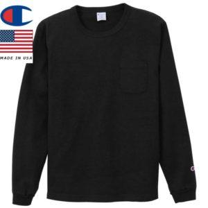 Champion チャンピオン ティーテンイレブン ロングスリーブポケットTシャツ MADE IN USA T1011 C5-P401 ブラック リブラセレクトストア libra select store libra-ss LBR 浜松
