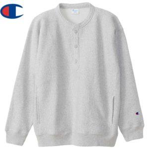 Champion チャンピオン スウェットシャツ リバースウィーブ(R) ハーフスナップスウェットシャツ C3-U031 シルバーグレー リブラセレクトストア libra select store libra-ss LBR 浜松